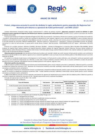 CJ Giurgiu - SMIS 125227 - anunt lansare proiect (08.07.2019, 09.07.2019 si 10.07.2019)